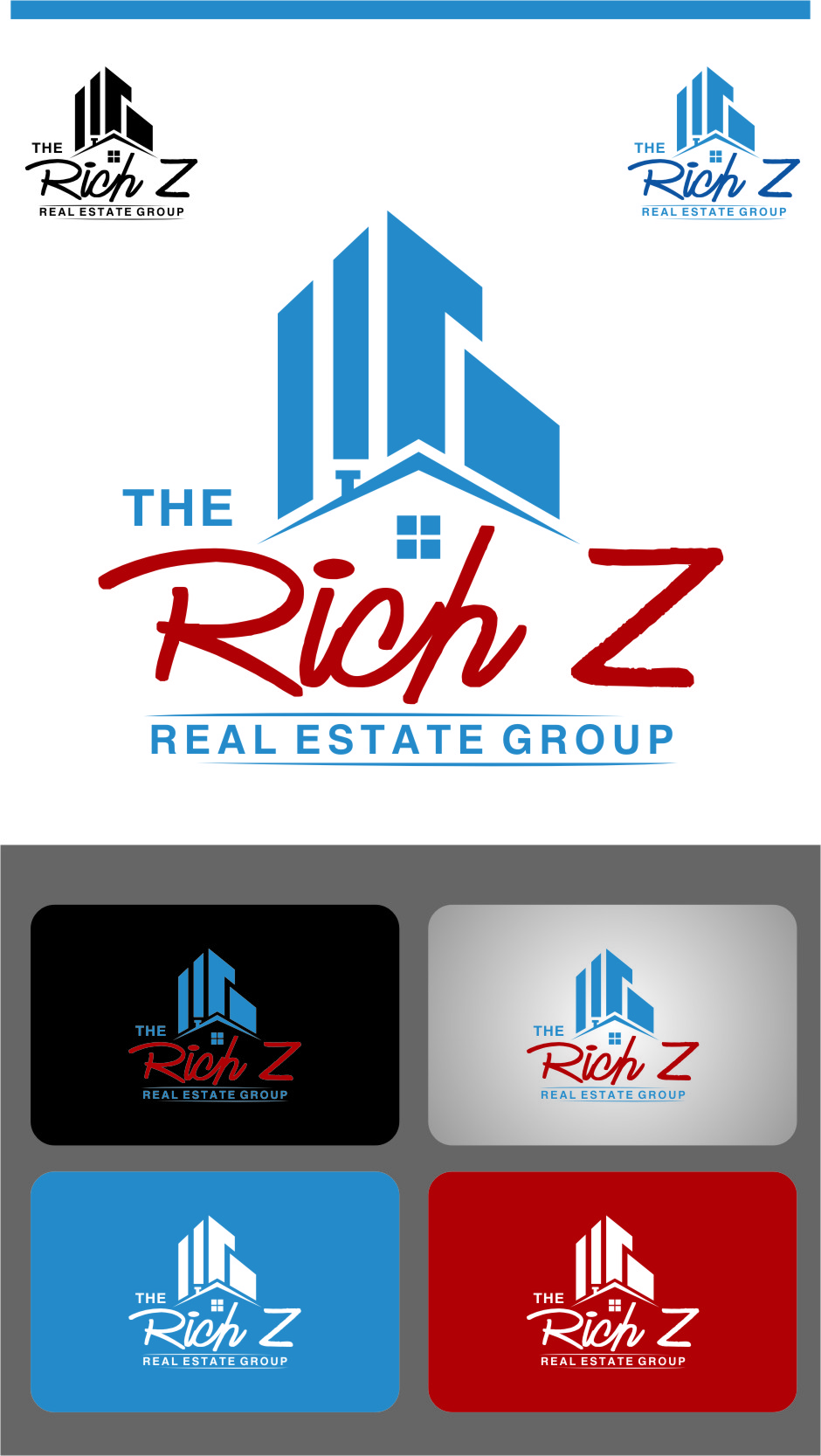 Logo Design by Ngepet_art - Entry No. 163 in the Logo Design Contest The Rich Z. Real Estate Group Logo Design.