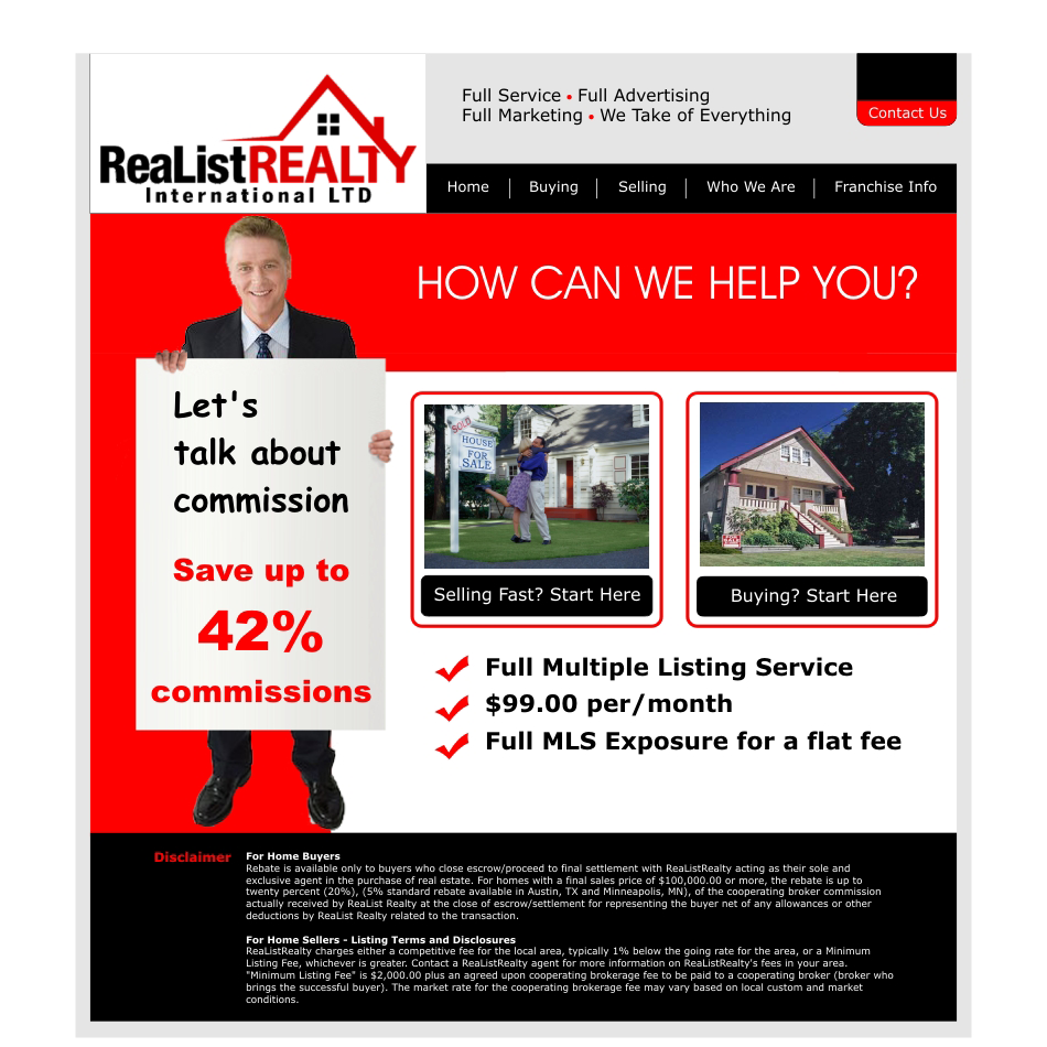Web Page Design by aspstudio - Entry No. 105 in the Web Page Design Contest Realist Realty International Ltd..