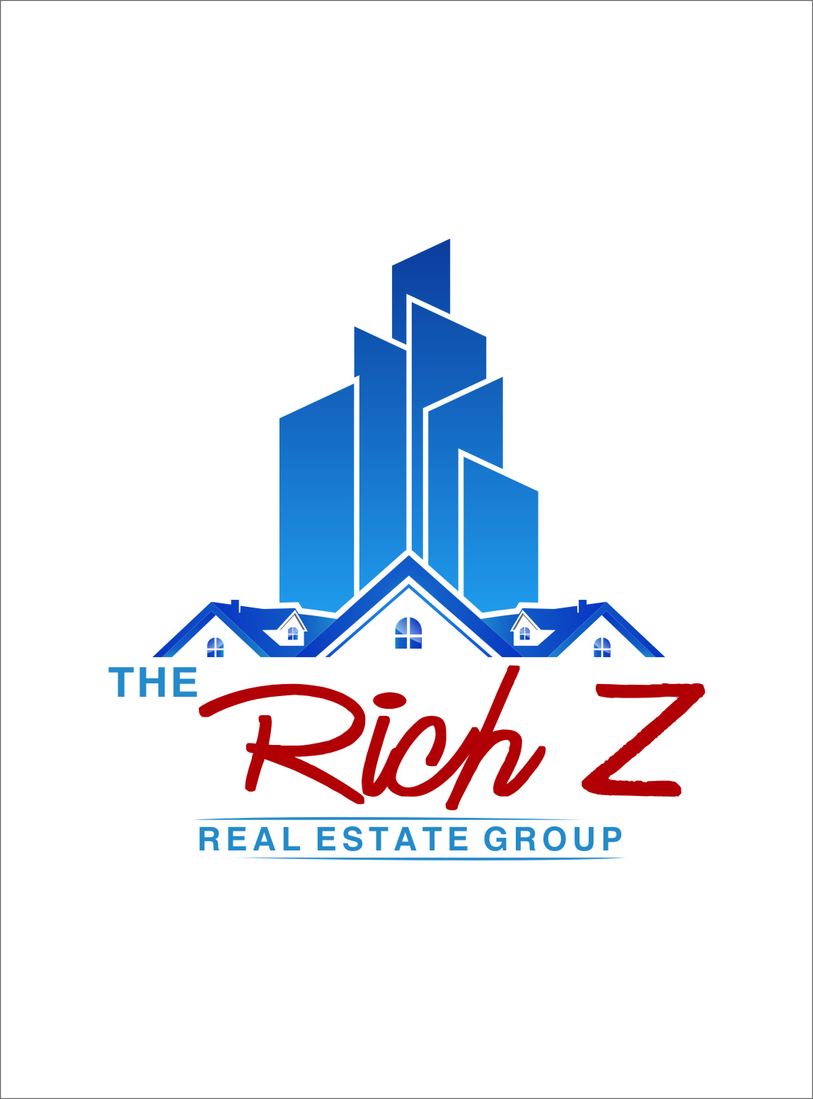 Logo Design by Ngepet_art - Entry No. 169 in the Logo Design Contest The Rich Z. Real Estate Group Logo Design.