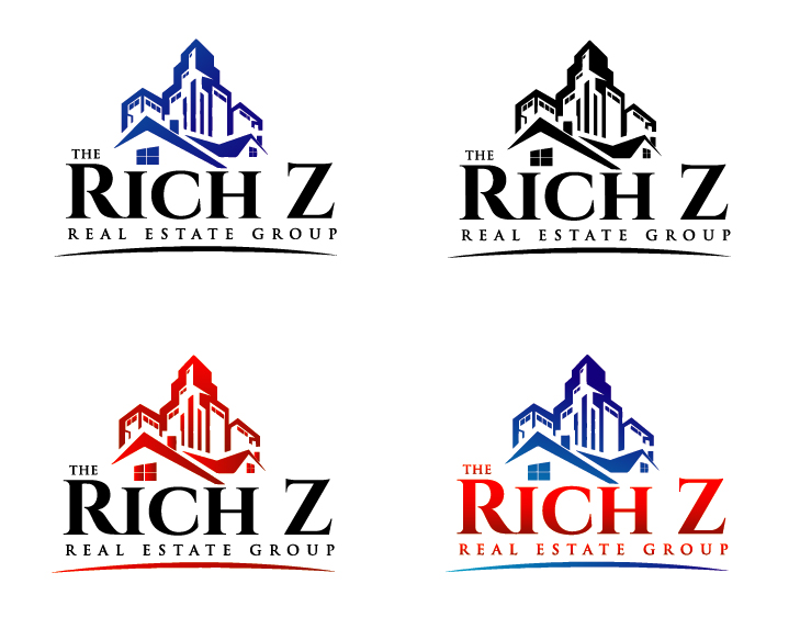Logo Design by VENTSISLAV KOVACHEV - Entry No. 173 in the Logo Design Contest The Rich Z. Real Estate Group Logo Design.