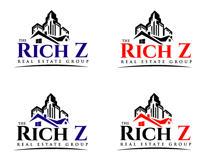Logo Design by VENTSISLAV KOVACHEV - Entry No. 174 in the Logo Design Contest The Rich Z. Real Estate Group Logo Design.