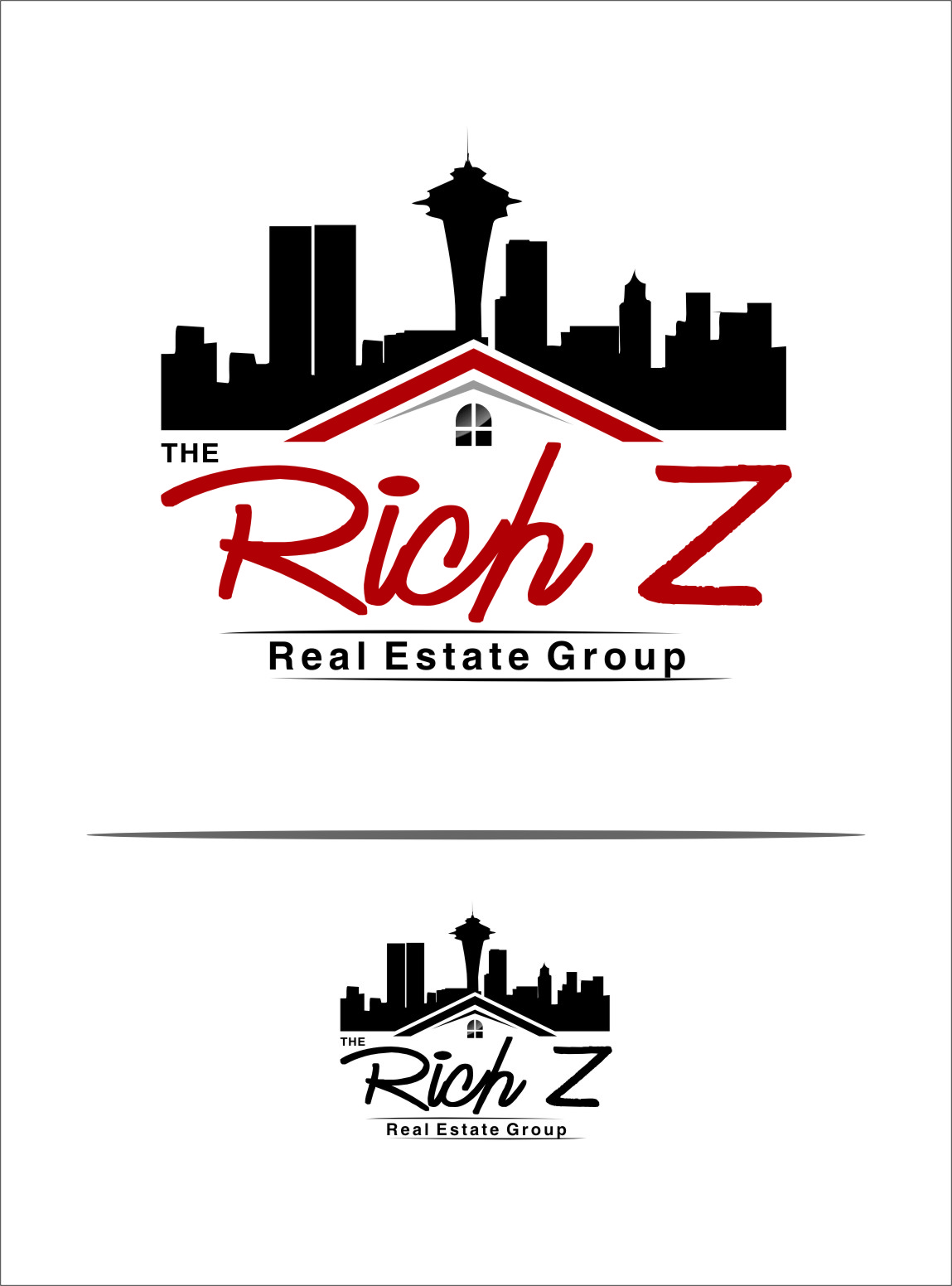 Logo Design by Ngepet_art - Entry No. 176 in the Logo Design Contest The Rich Z. Real Estate Group Logo Design.