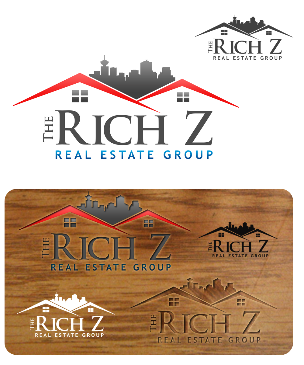 Logo Design by Private User - Entry No. 179 in the Logo Design Contest The Rich Z. Real Estate Group Logo Design.