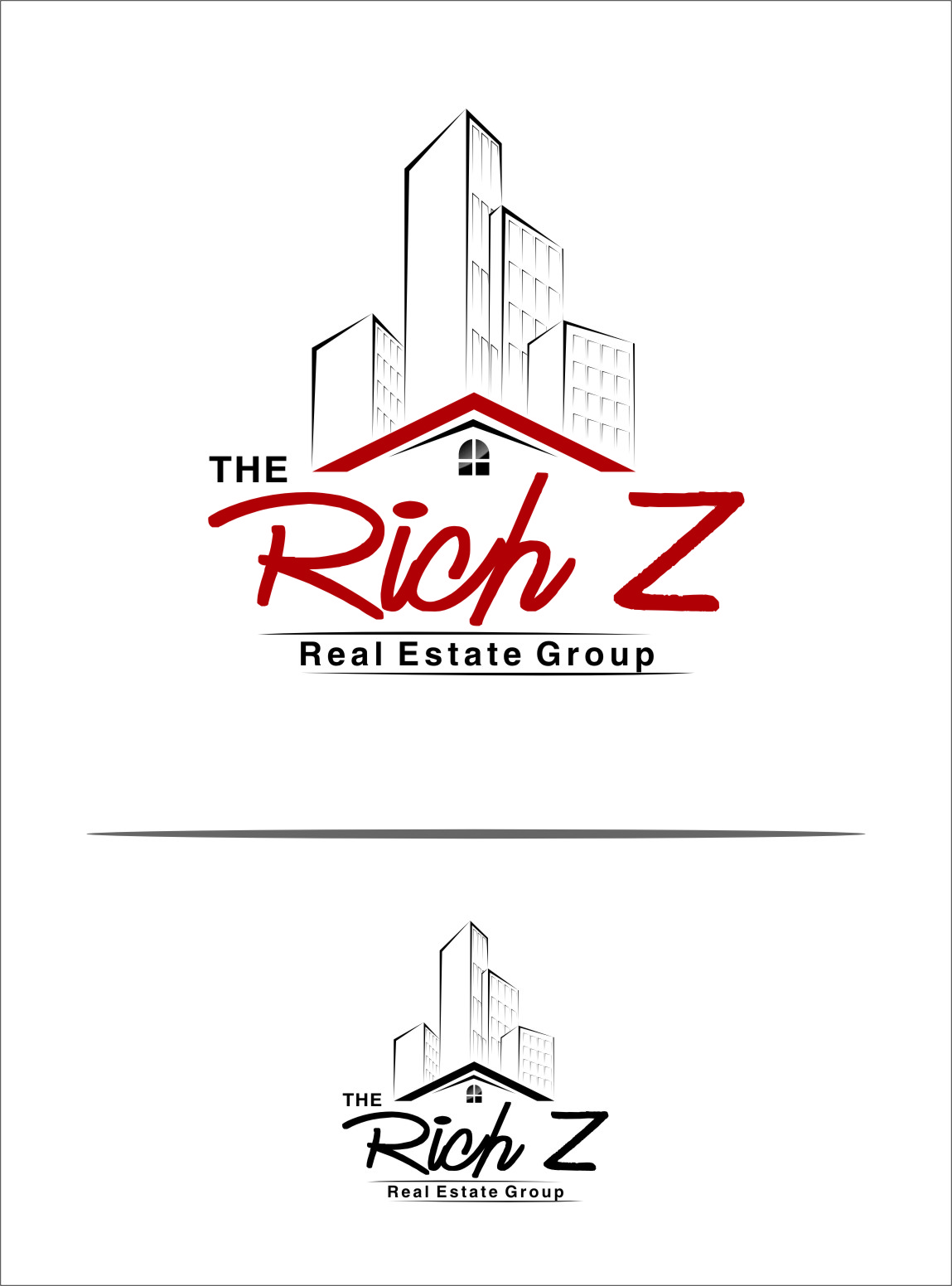 Logo Design by Ngepet_art - Entry No. 182 in the Logo Design Contest The Rich Z. Real Estate Group Logo Design.