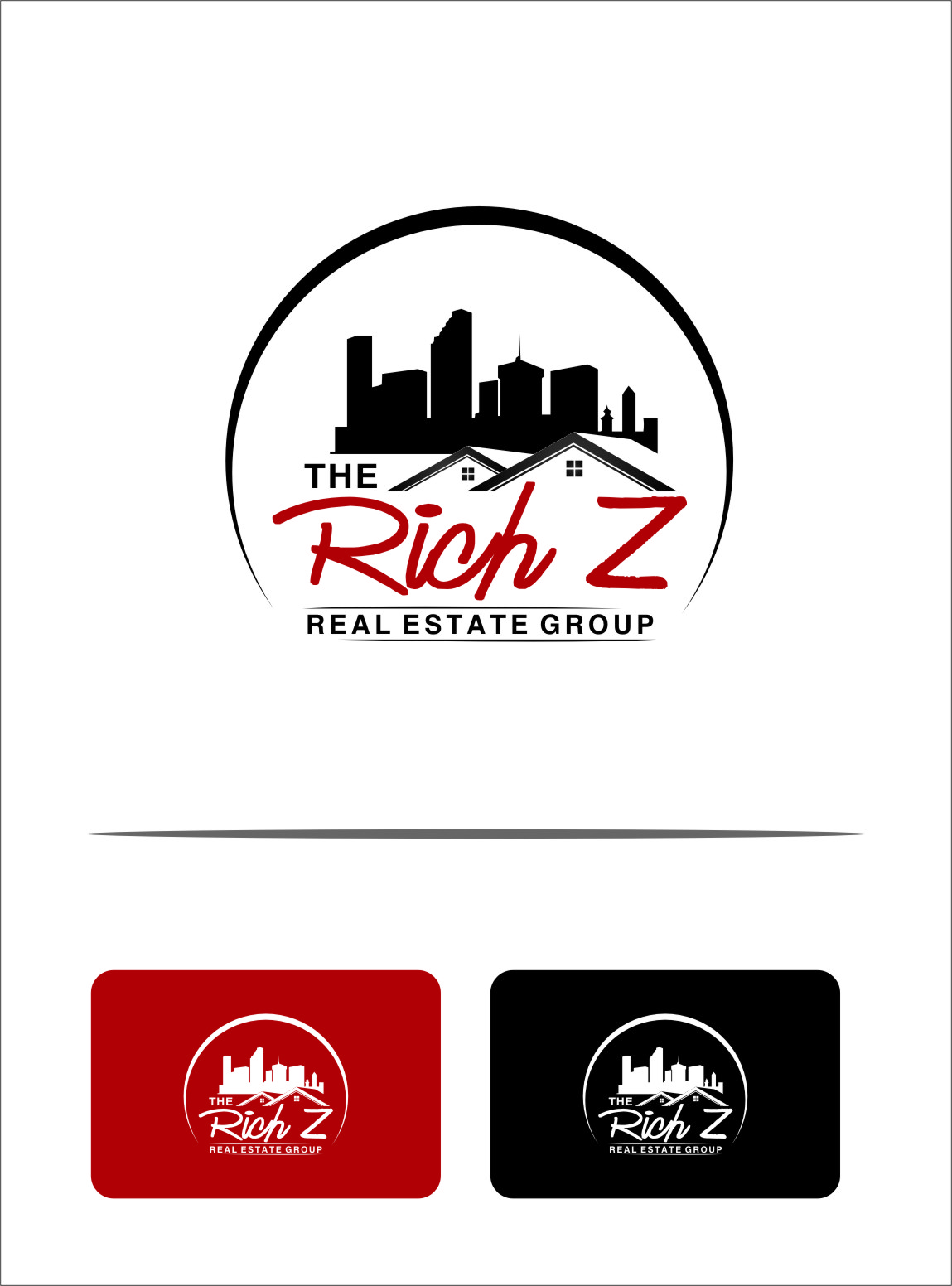 Logo Design by RasYa Muhammad Athaya - Entry No. 185 in the Logo Design Contest The Rich Z. Real Estate Group Logo Design.