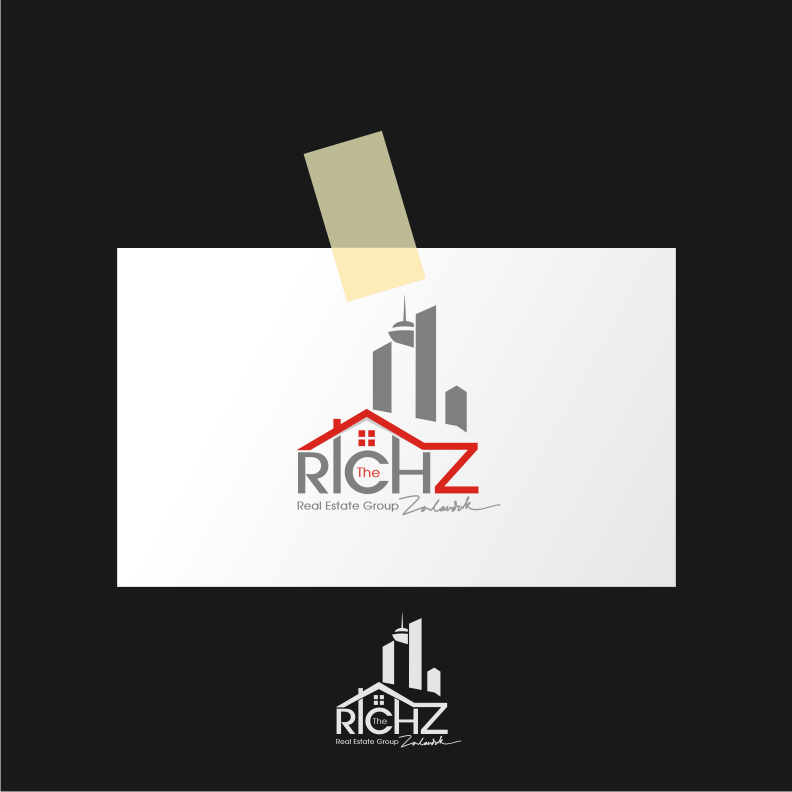 Logo Design by graphicleaf - Entry No. 186 in the Logo Design Contest The Rich Z. Real Estate Group Logo Design.
