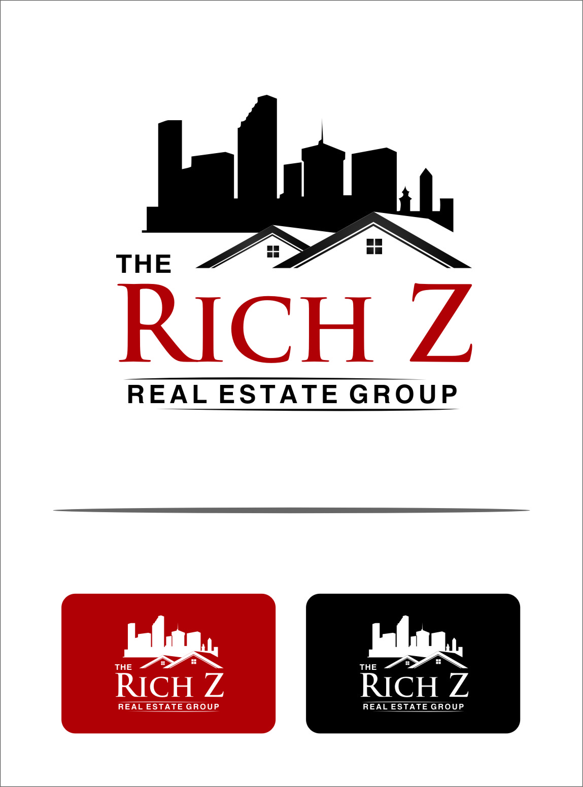 Logo Design by RasYa Muhammad Athaya - Entry No. 187 in the Logo Design Contest The Rich Z. Real Estate Group Logo Design.