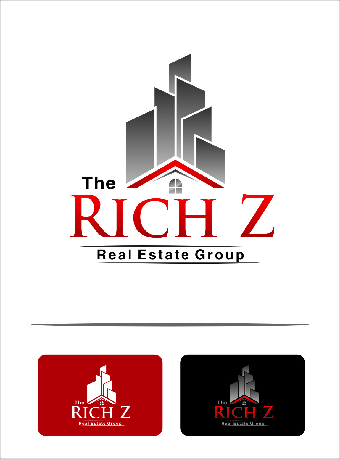 Logo Design by Ngepet_art - Entry No. 188 in the Logo Design Contest The Rich Z. Real Estate Group Logo Design.
