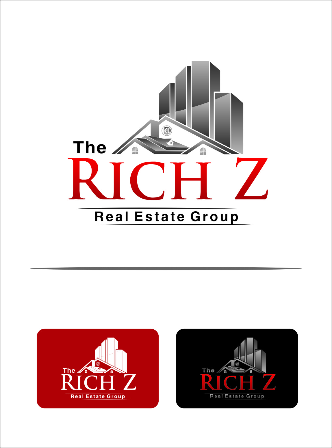 Logo Design by Ngepet_art - Entry No. 189 in the Logo Design Contest The Rich Z. Real Estate Group Logo Design.