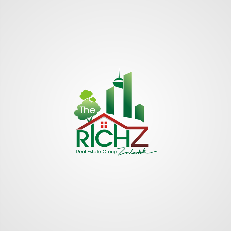 Logo Design by Muhammad Nasrul chasib - Entry No. 190 in the Logo Design Contest The Rich Z. Real Estate Group Logo Design.