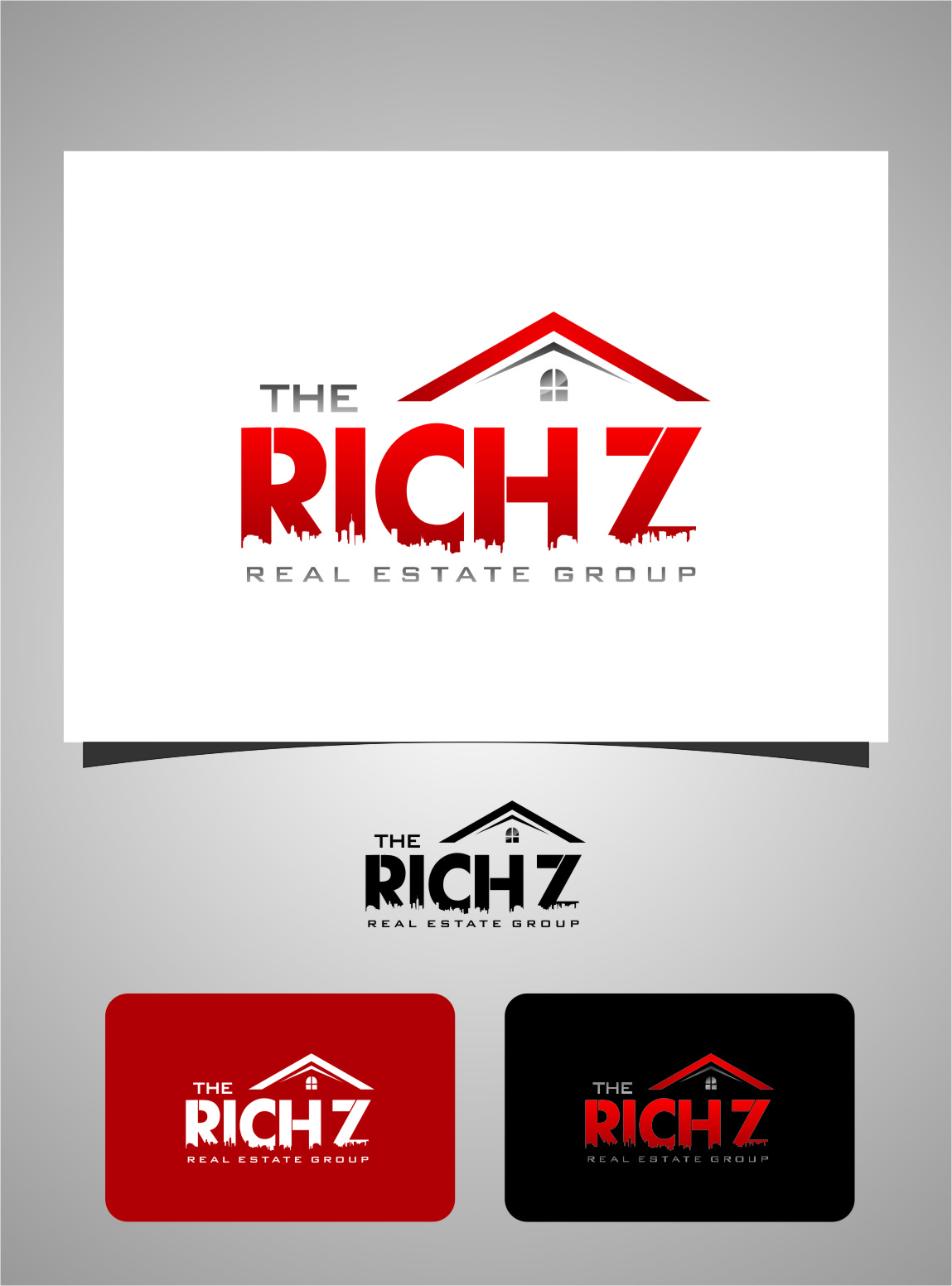 Logo Design by Ngepet_art - Entry No. 191 in the Logo Design Contest The Rich Z. Real Estate Group Logo Design.