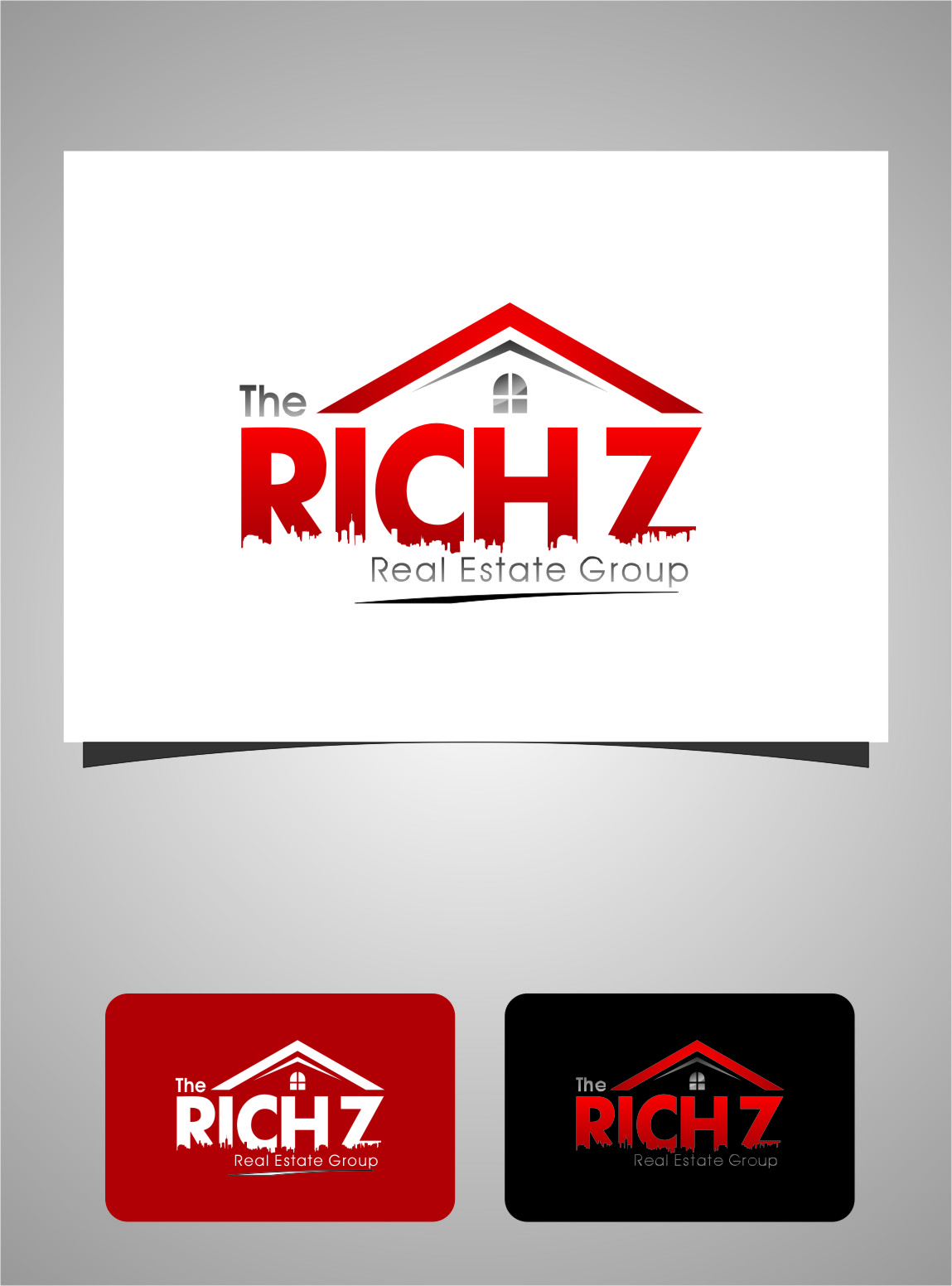 Logo Design by Ngepet_art - Entry No. 192 in the Logo Design Contest The Rich Z. Real Estate Group Logo Design.
