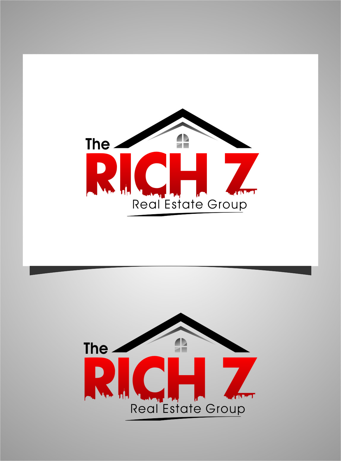 Logo Design by RoSyid Rono-Rene On Java - Entry No. 193 in the Logo Design Contest The Rich Z. Real Estate Group Logo Design.