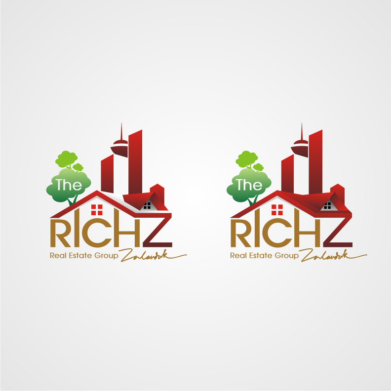 Logo Design by graphicleaf - Entry No. 194 in the Logo Design Contest The Rich Z. Real Estate Group Logo Design.