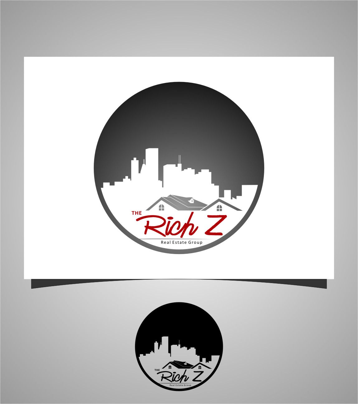 Logo Design by RasYa Muhammad Athaya - Entry No. 199 in the Logo Design Contest The Rich Z. Real Estate Group Logo Design.