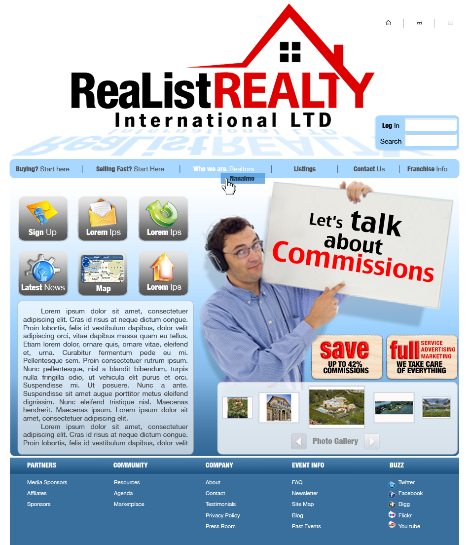 Web Page Design by garygeorgec - Entry No. 106 in the Web Page Design Contest Realist Realty International Ltd..