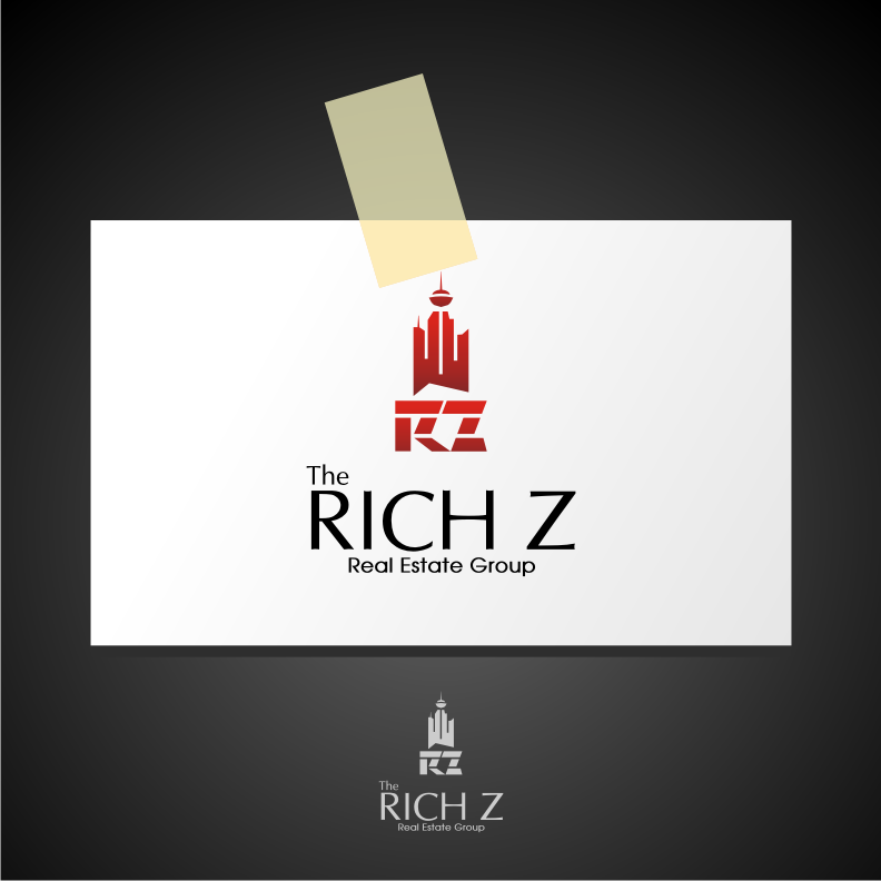 Logo Design by graphicleaf - Entry No. 205 in the Logo Design Contest The Rich Z. Real Estate Group Logo Design.