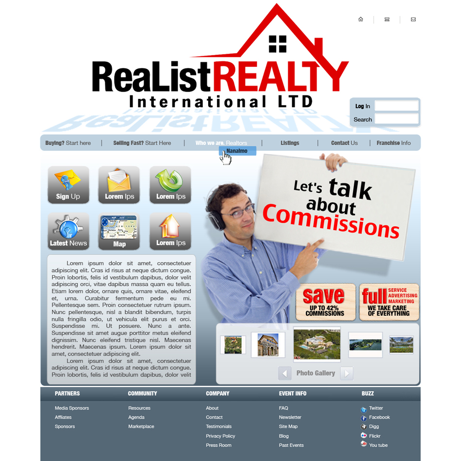 Web Page Design by garygeorgec - Entry No. 107 in the Web Page Design Contest Realist Realty International Ltd..