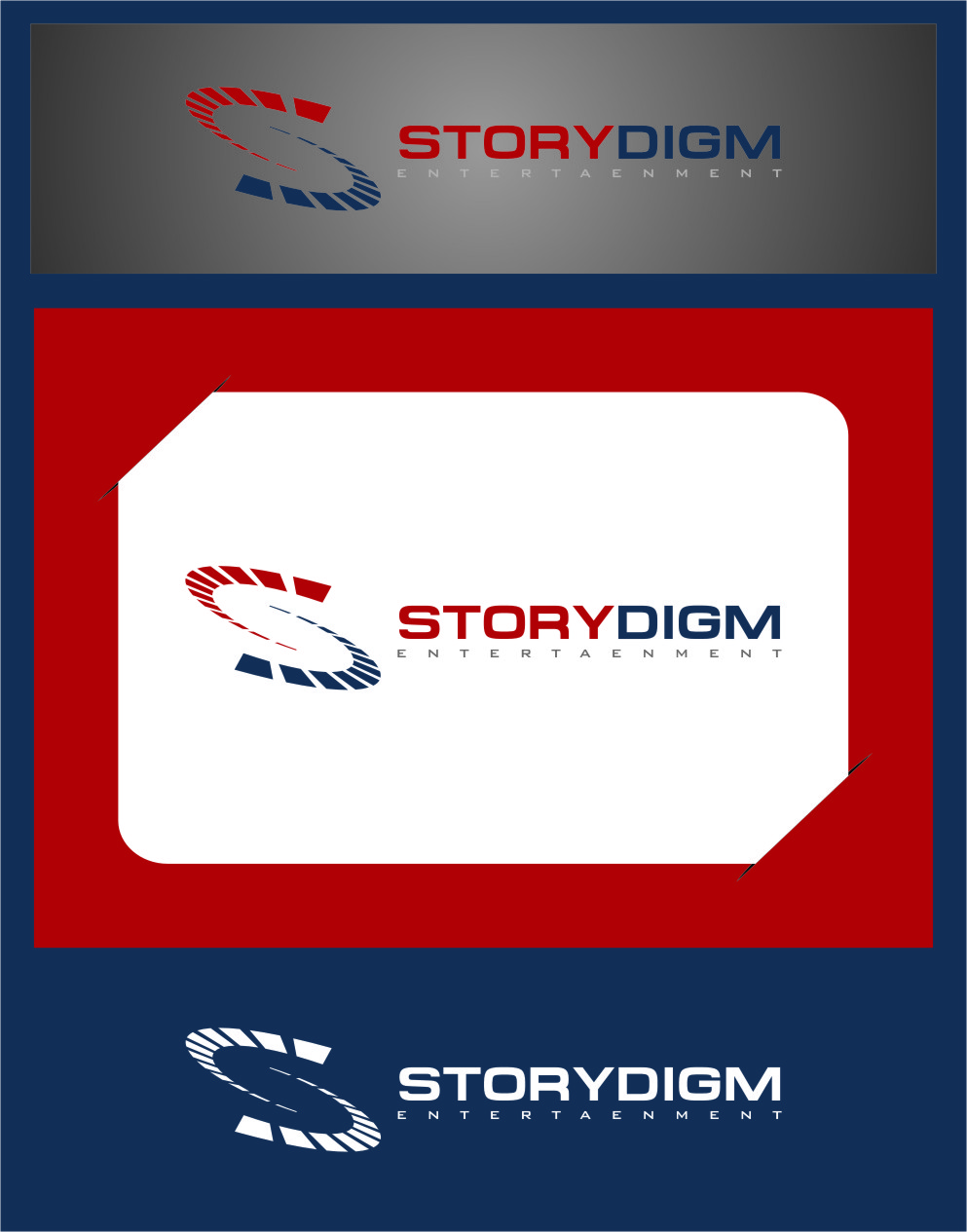 Logo Design by RasYa Muhammad Athaya - Entry No. 36 in the Logo Design Contest Inspiring Logo Design for Storydigm Entertainment.