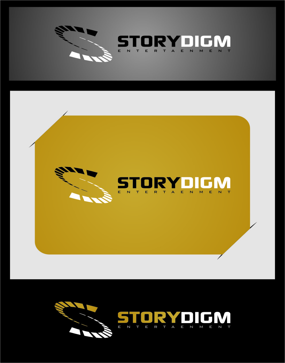 Logo Design by Ngepet_art - Entry No. 37 in the Logo Design Contest Inspiring Logo Design for Storydigm Entertainment.