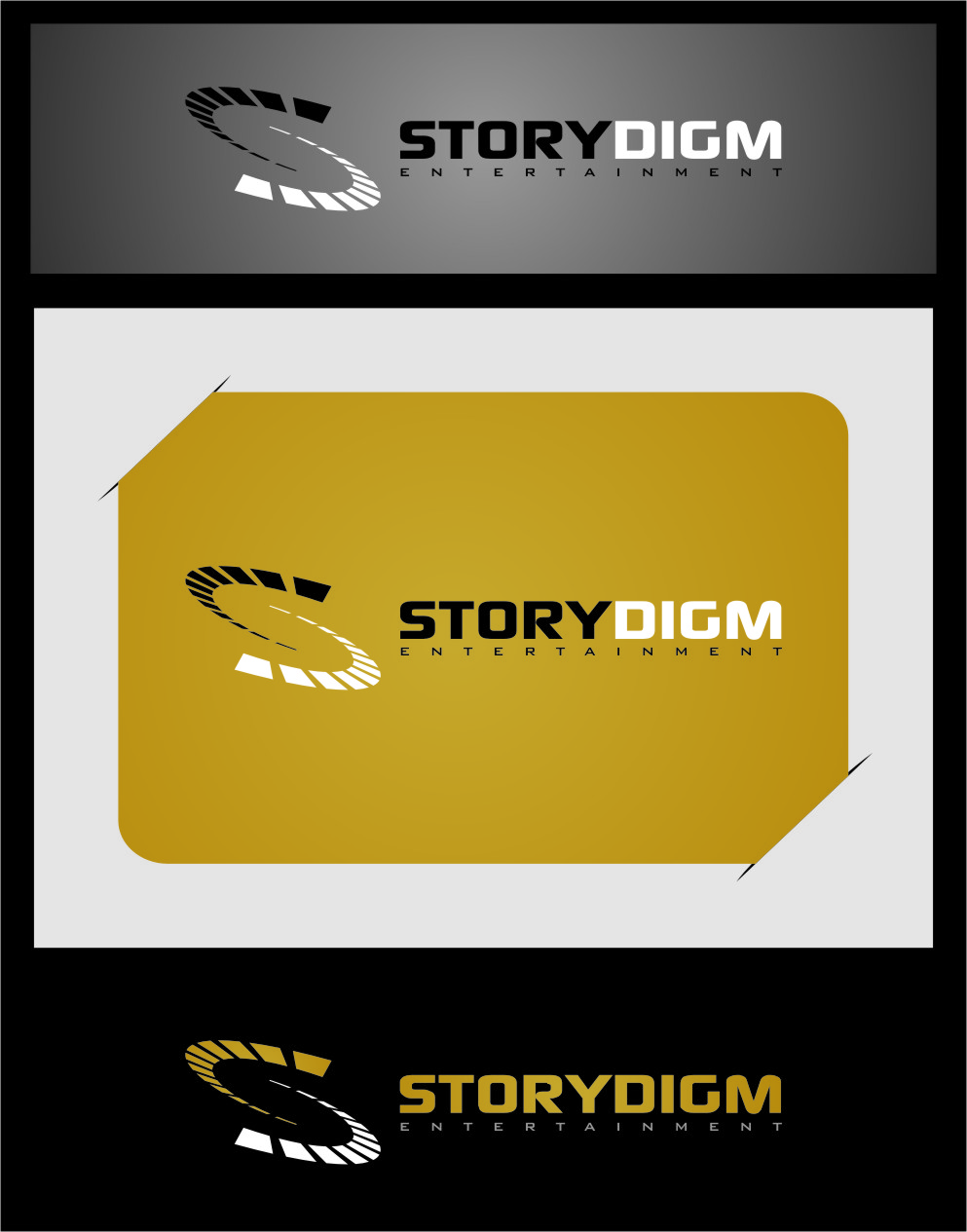 Logo Design by RasYa Muhammad Athaya - Entry No. 38 in the Logo Design Contest Inspiring Logo Design for Storydigm Entertainment.
