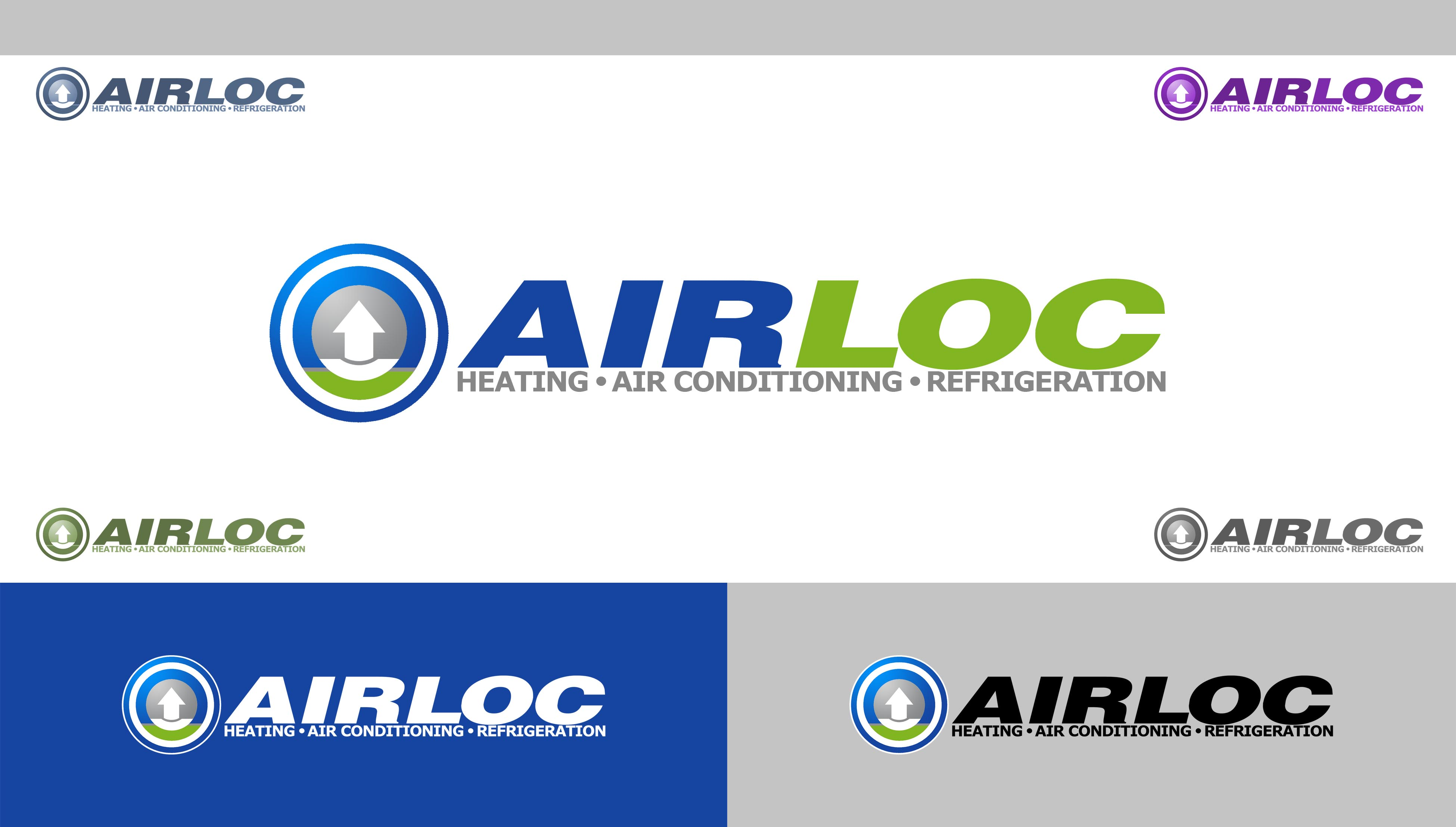 Logo Design by Cesar III Sotto - Entry No. 180 in the Logo Design Contest Airloc Logo Design.
