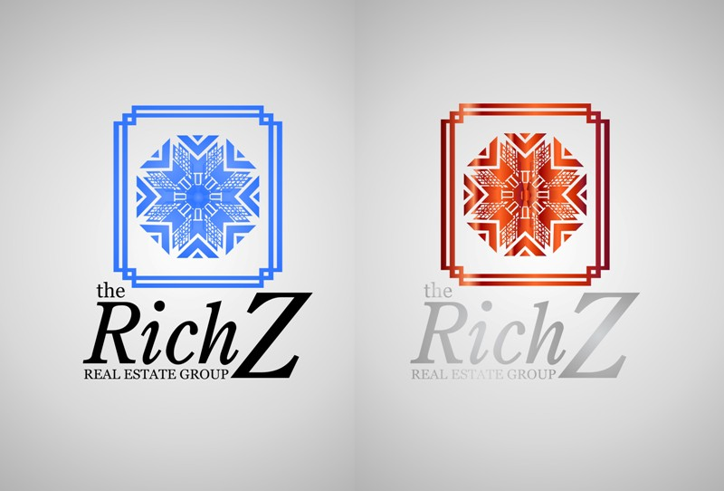 Logo Design by Crispin Jr Vasquez - Entry No. 214 in the Logo Design Contest The Rich Z. Real Estate Group Logo Design.