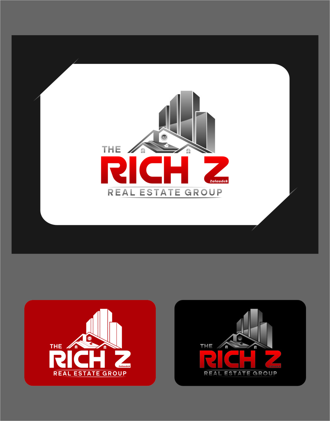 Logo Design by Ngepet_art - Entry No. 215 in the Logo Design Contest The Rich Z. Real Estate Group Logo Design.