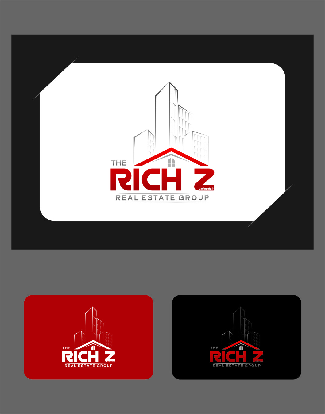 Logo Design by RoSyid Rono-Rene On Java - Entry No. 216 in the Logo Design Contest The Rich Z. Real Estate Group Logo Design.