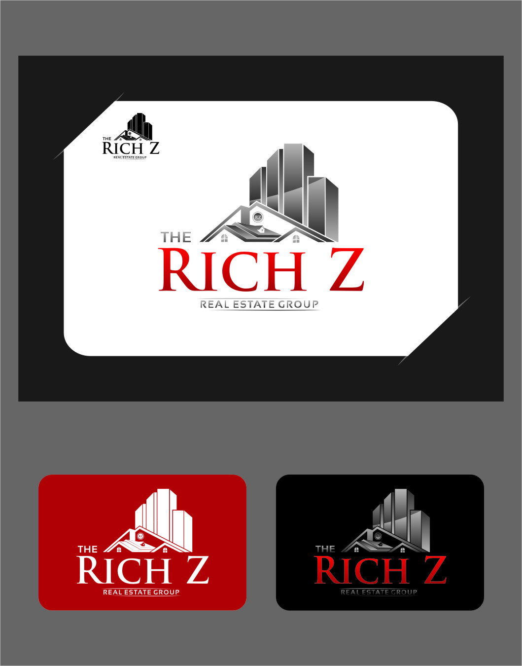Logo Design by Ngepet_art - Entry No. 217 in the Logo Design Contest The Rich Z. Real Estate Group Logo Design.