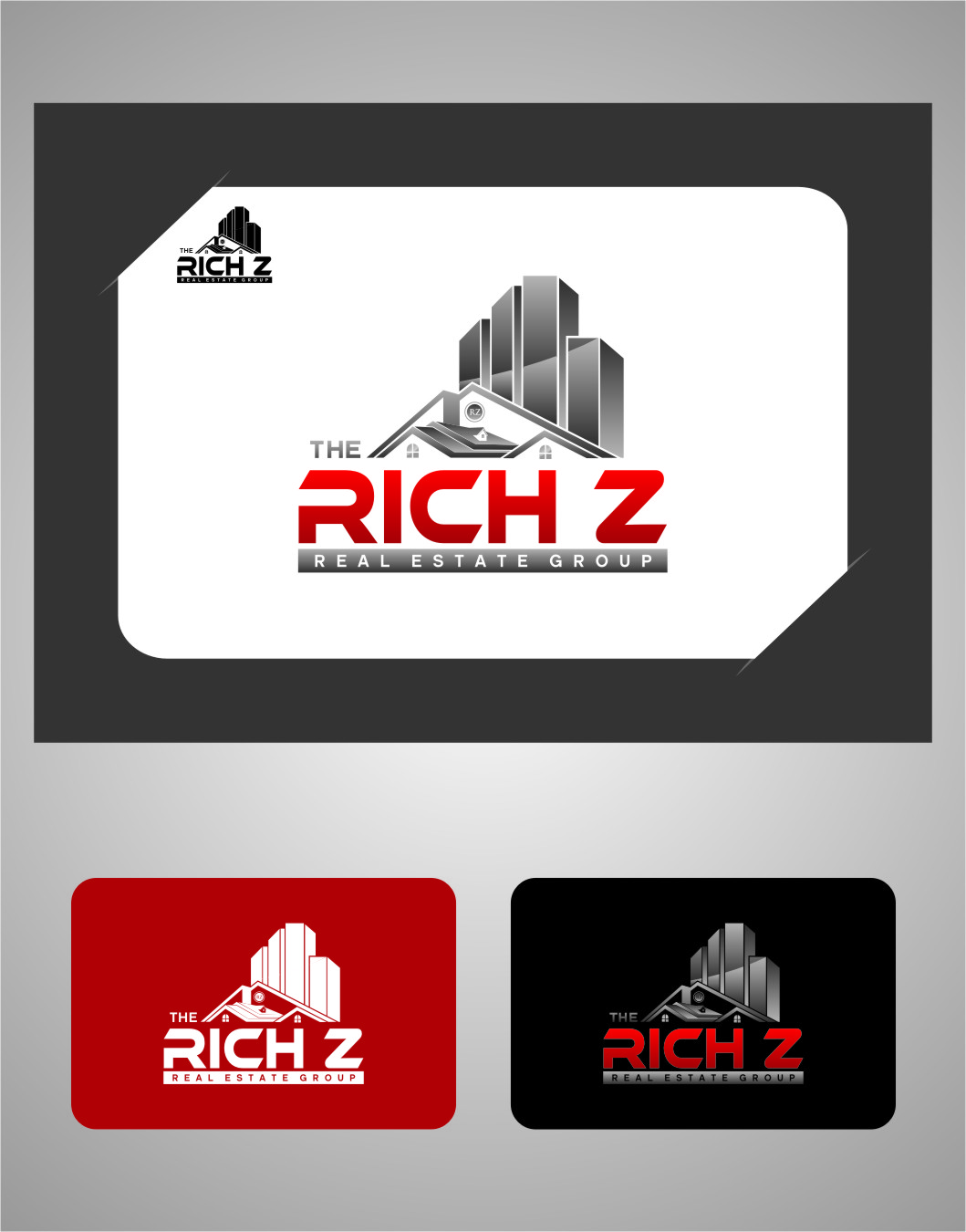 Logo Design by RoSyid Rono-Rene On Java - Entry No. 218 in the Logo Design Contest The Rich Z. Real Estate Group Logo Design.