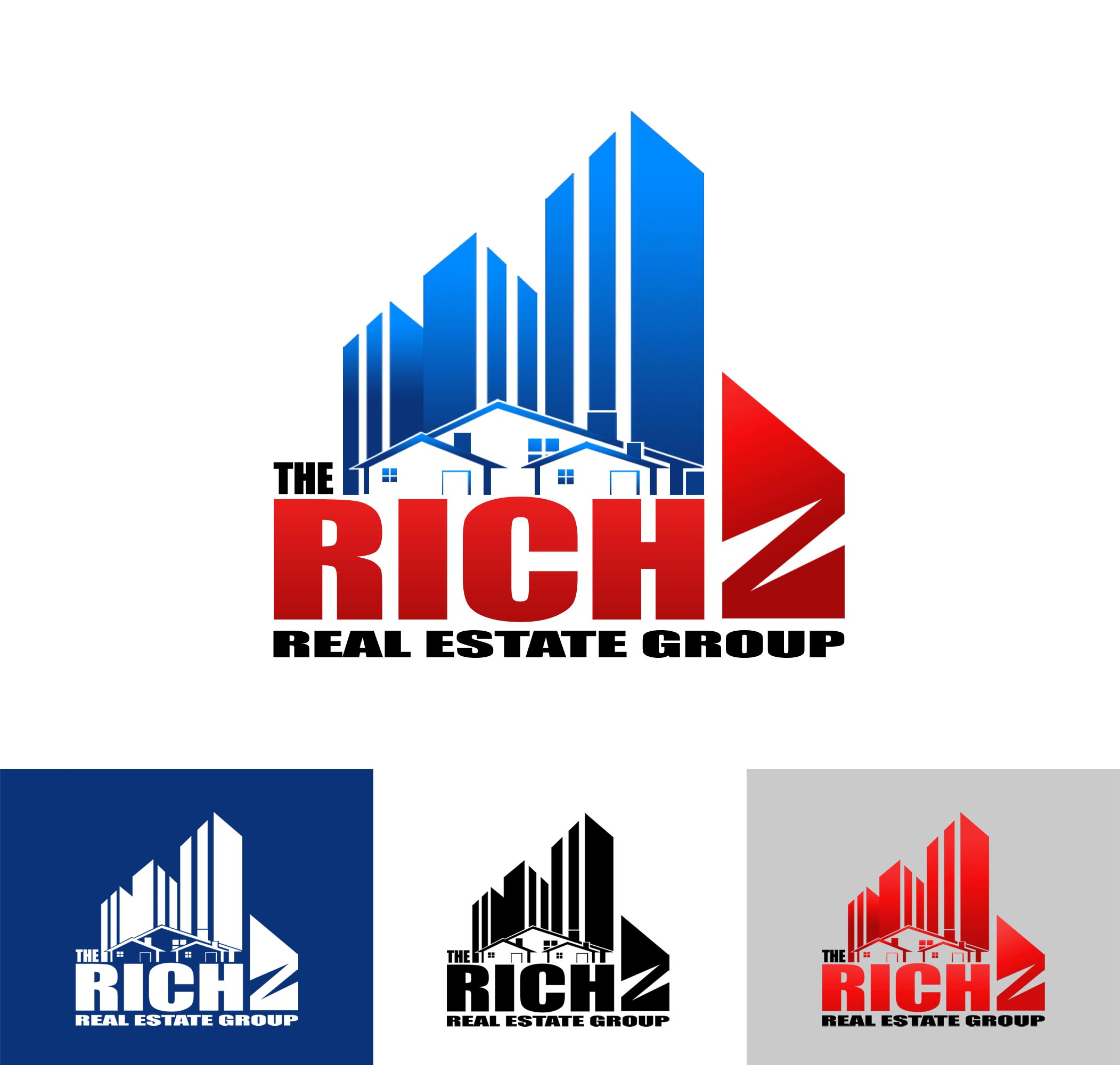 Logo Design by Cesar III Sotto - Entry No. 219 in the Logo Design Contest The Rich Z. Real Estate Group Logo Design.