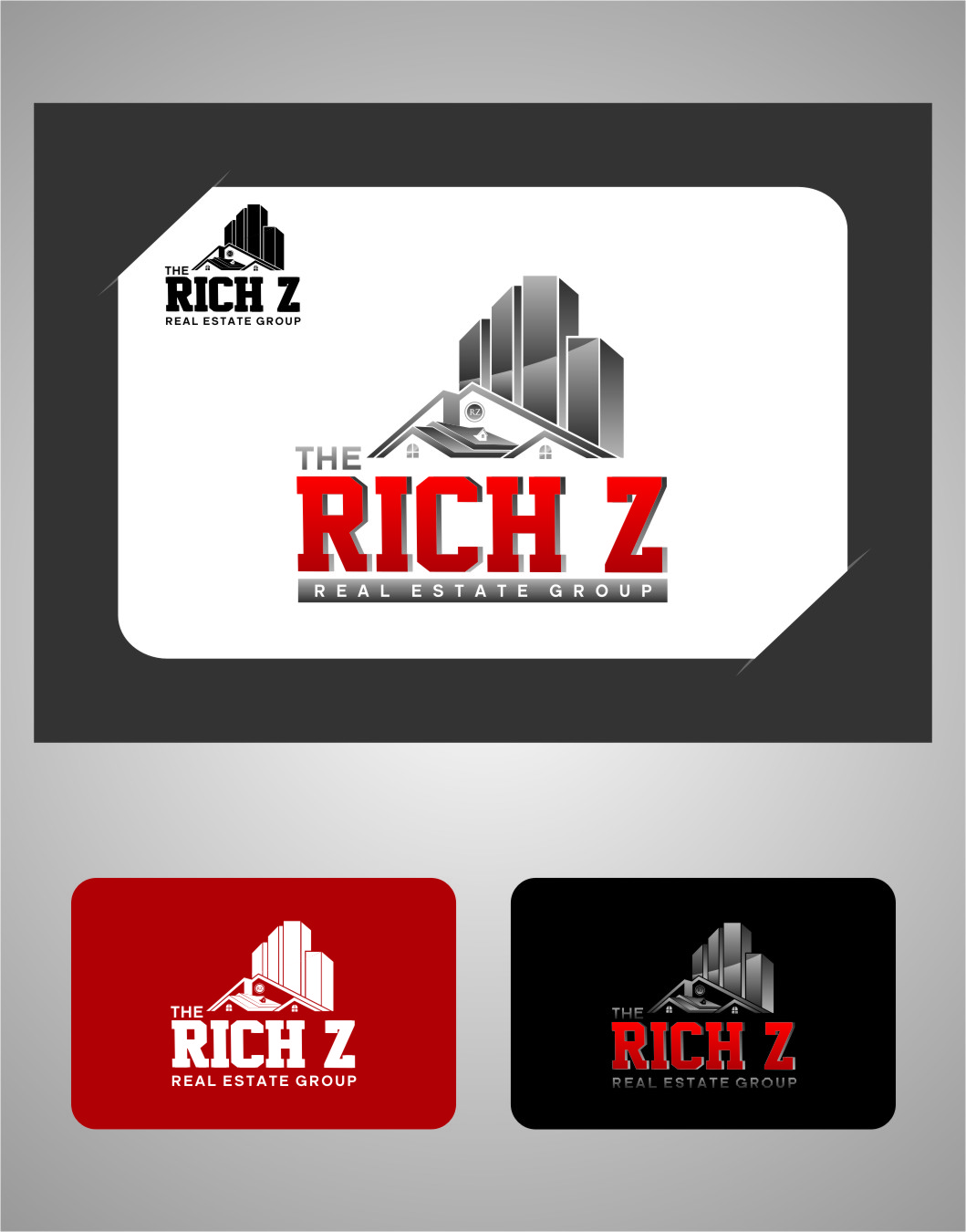 Logo Design by Ngepet_art - Entry No. 220 in the Logo Design Contest The Rich Z. Real Estate Group Logo Design.