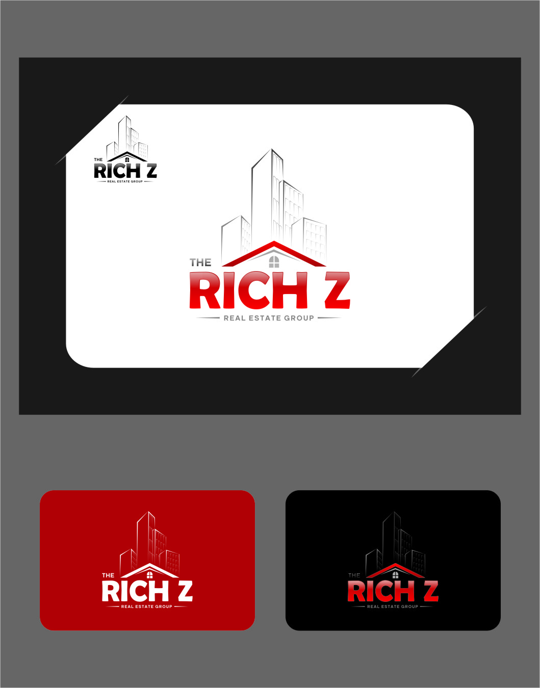 Logo Design by RasYa Muhammad Athaya - Entry No. 222 in the Logo Design Contest The Rich Z. Real Estate Group Logo Design.