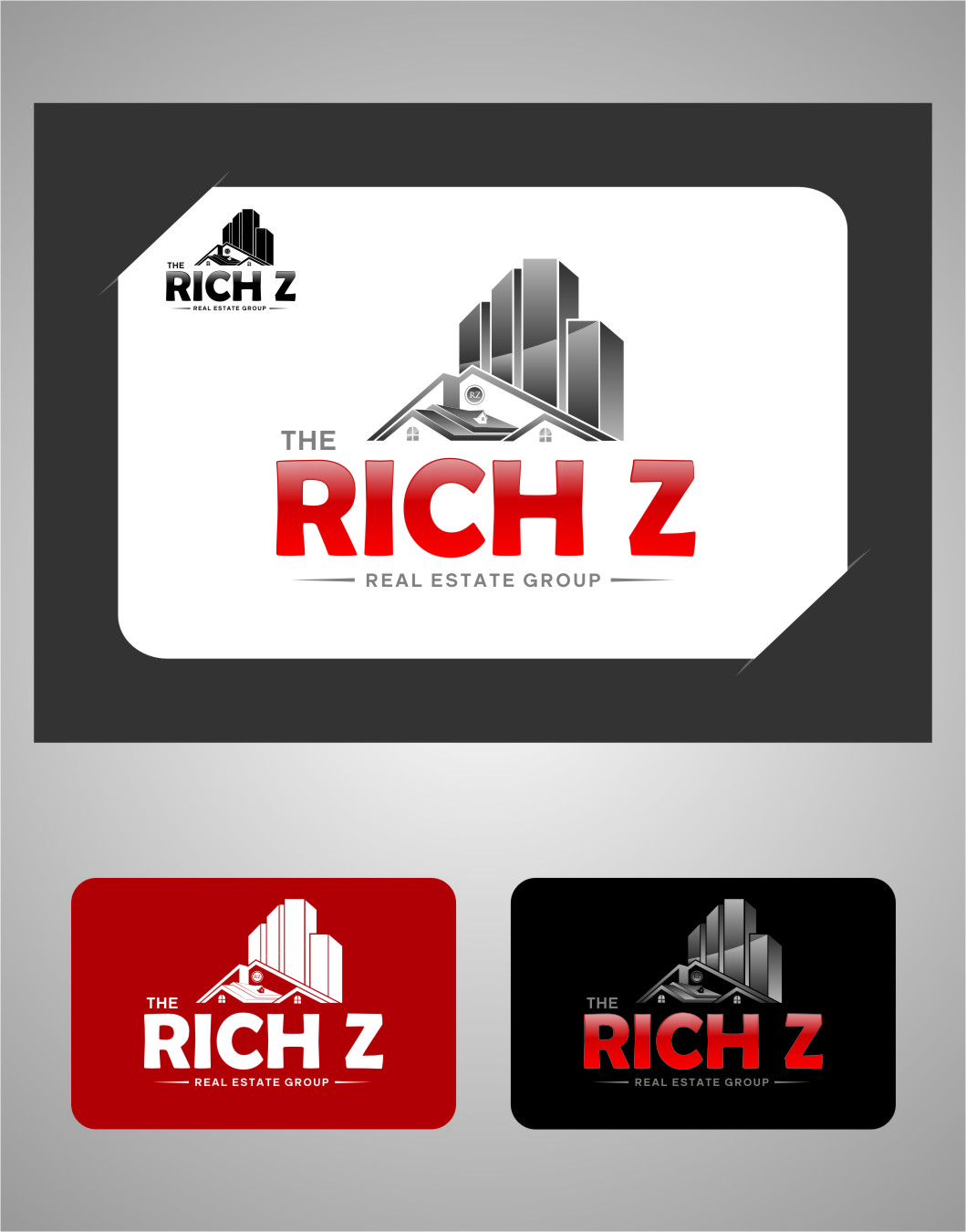 Logo Design by RasYa Muhammad Athaya - Entry No. 223 in the Logo Design Contest The Rich Z. Real Estate Group Logo Design.