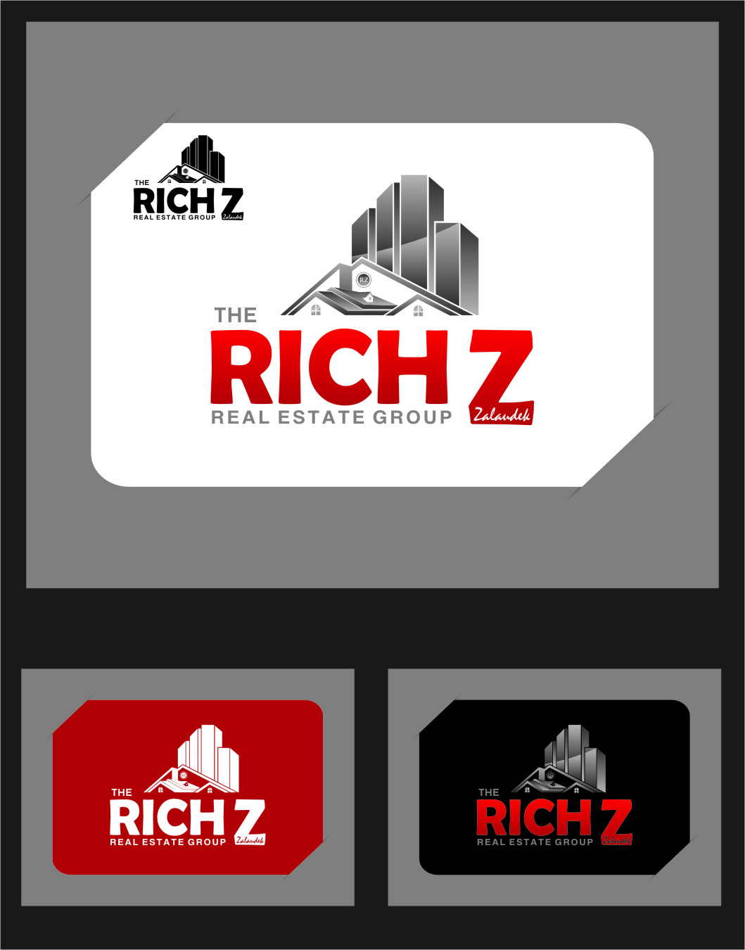 Logo Design by Ngepet_art - Entry No. 231 in the Logo Design Contest The Rich Z. Real Estate Group Logo Design.