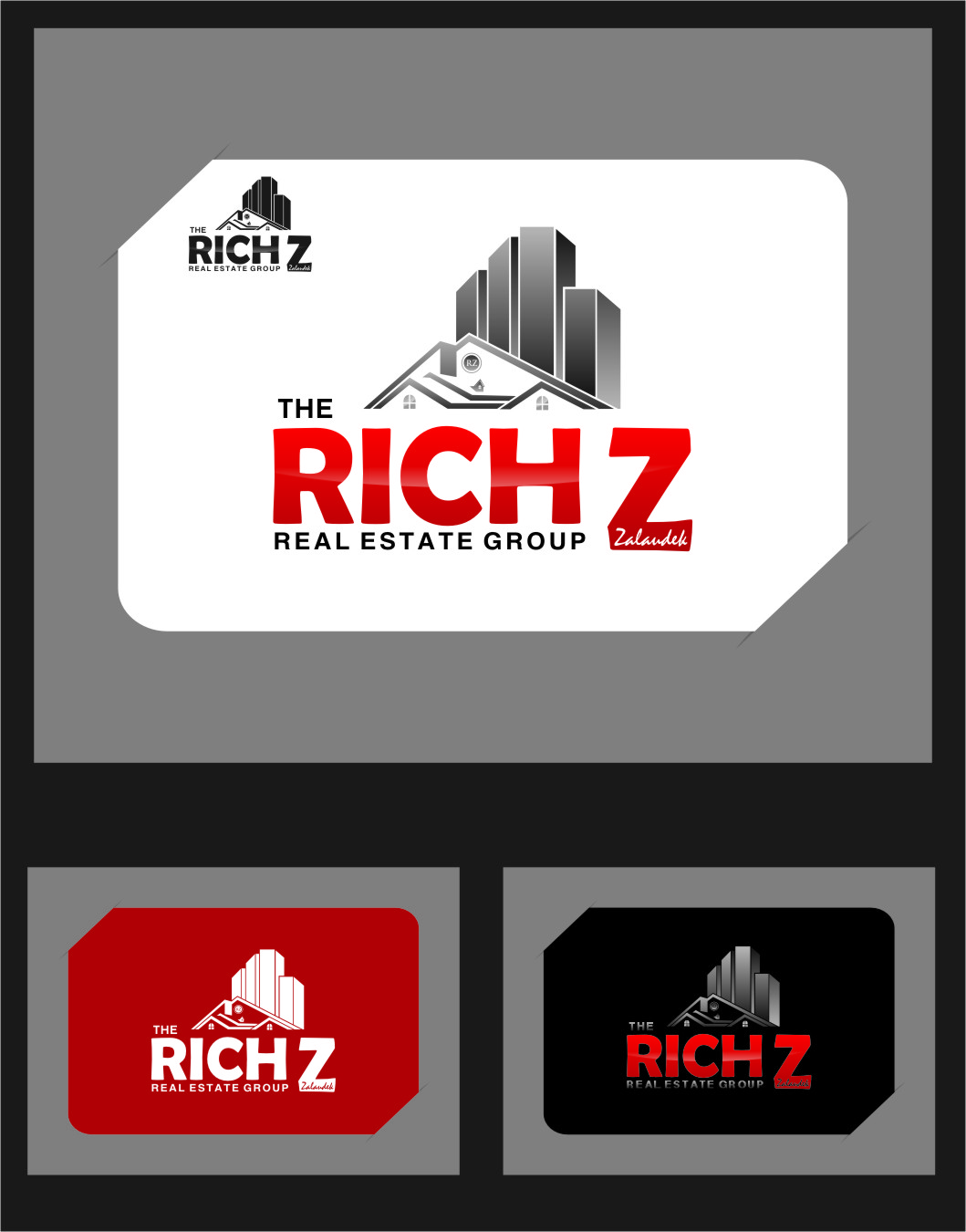 Logo Design by RasYa Muhammad Athaya - Entry No. 232 in the Logo Design Contest The Rich Z. Real Estate Group Logo Design.
