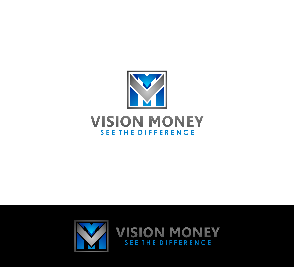Logo Design by haidu - Entry No. 61 in the Logo Design Contest Captivating Logo Design for VISION MONEY.