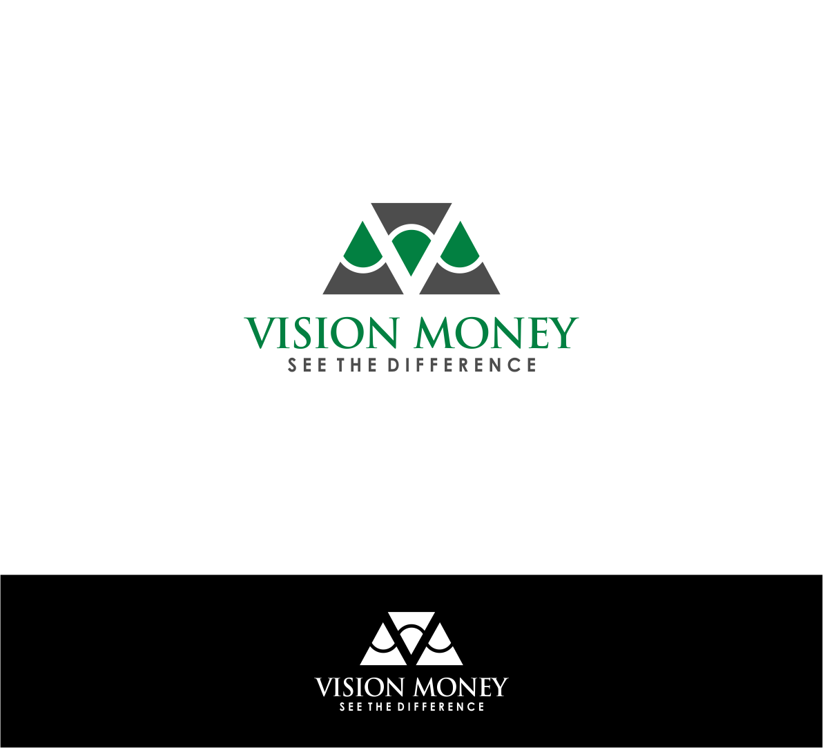 Logo Design by haidu - Entry No. 62 in the Logo Design Contest Captivating Logo Design for VISION MONEY.