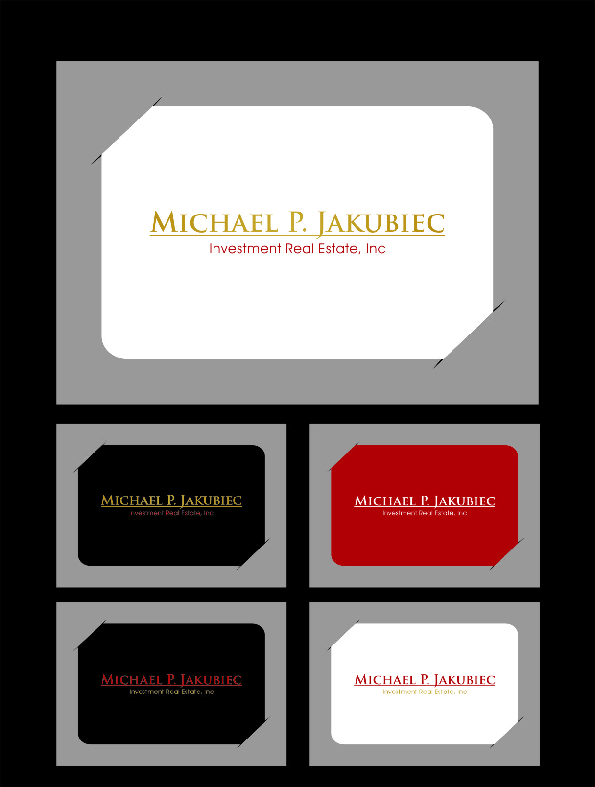 Logo Design by RoSyid Rono-Rene On Java - Entry No. 5 in the Logo Design Contest New Logo Design for Michael P. Jakubiec Investment Real Estate, Inc..