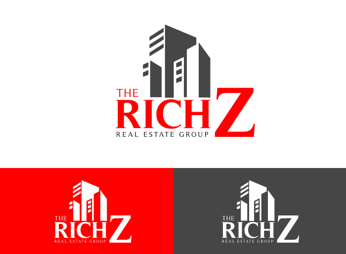 Logo Design by Jan Chua - Entry No. 235 in the Logo Design Contest The Rich Z. Real Estate Group Logo Design.