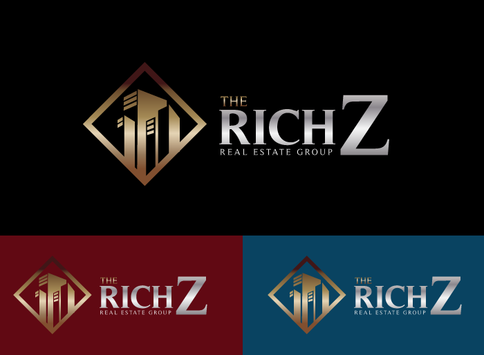 Logo Design by Jan Chua - Entry No. 236 in the Logo Design Contest The Rich Z. Real Estate Group Logo Design.