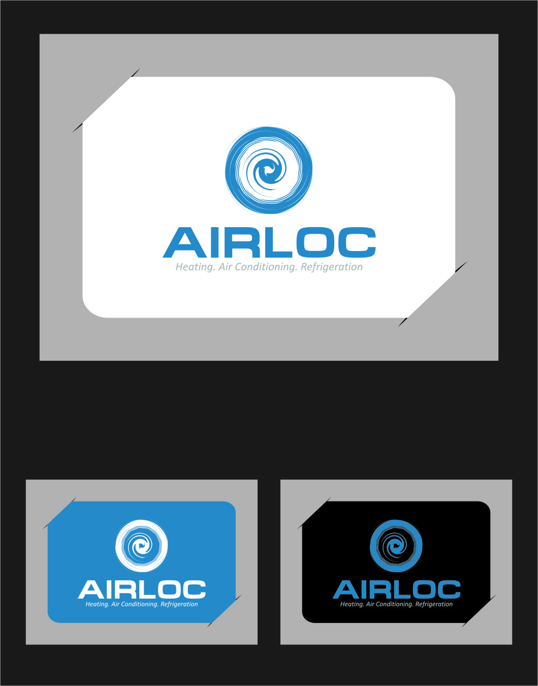Logo Design by Ngepet_art - Entry No. 228 in the Logo Design Contest Airloc Logo Design.