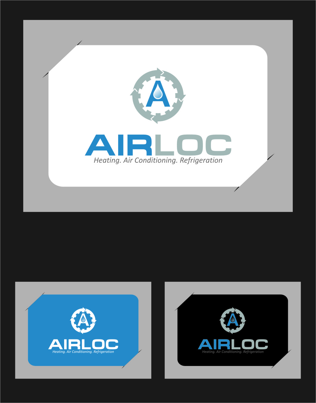 Logo Design by Ngepet_art - Entry No. 235 in the Logo Design Contest Airloc Logo Design.