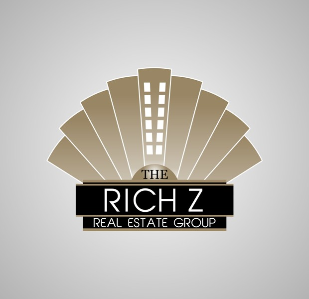 Logo Design by Crispin Jr Vasquez - Entry No. 239 in the Logo Design Contest The Rich Z. Real Estate Group Logo Design.