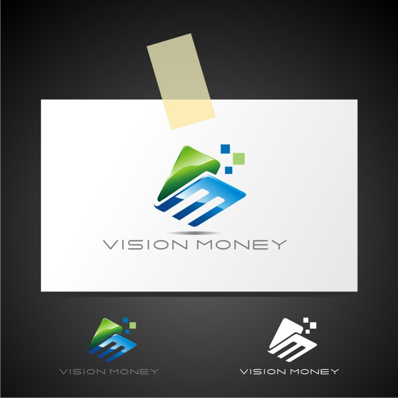 Logo Design by Muhammad Nasrul chasib - Entry No. 72 in the Logo Design Contest Captivating Logo Design for VISION MONEY.