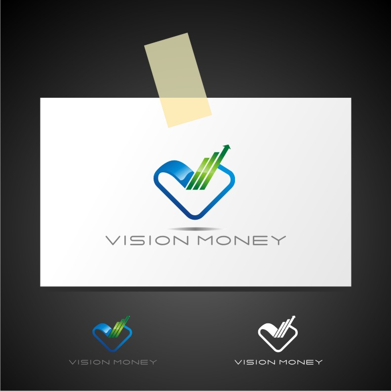 Logo Design by Muhammad Nasrul chasib - Entry No. 73 in the Logo Design Contest Captivating Logo Design for VISION MONEY.