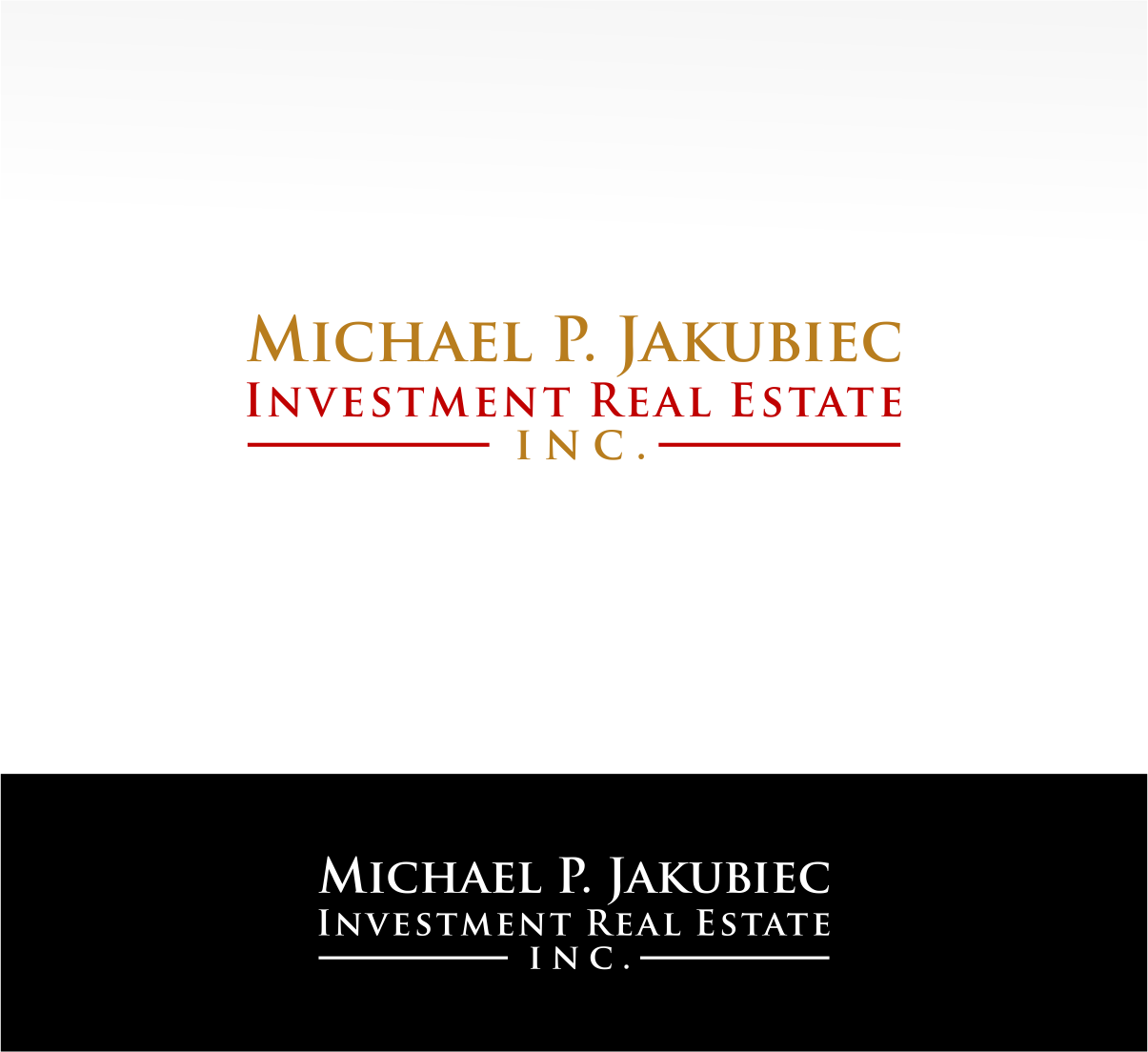 Logo Design by haidu - Entry No. 19 in the Logo Design Contest New Logo Design for Michael P. Jakubiec Investment Real Estate, Inc..