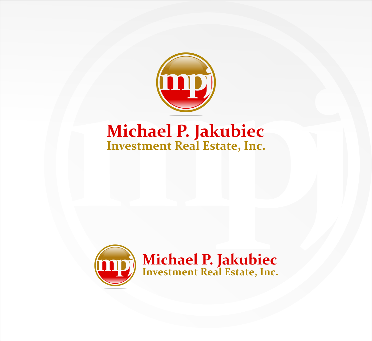 Logo Design by haidu - Entry No. 23 in the Logo Design Contest New Logo Design for Michael P. Jakubiec Investment Real Estate, Inc..