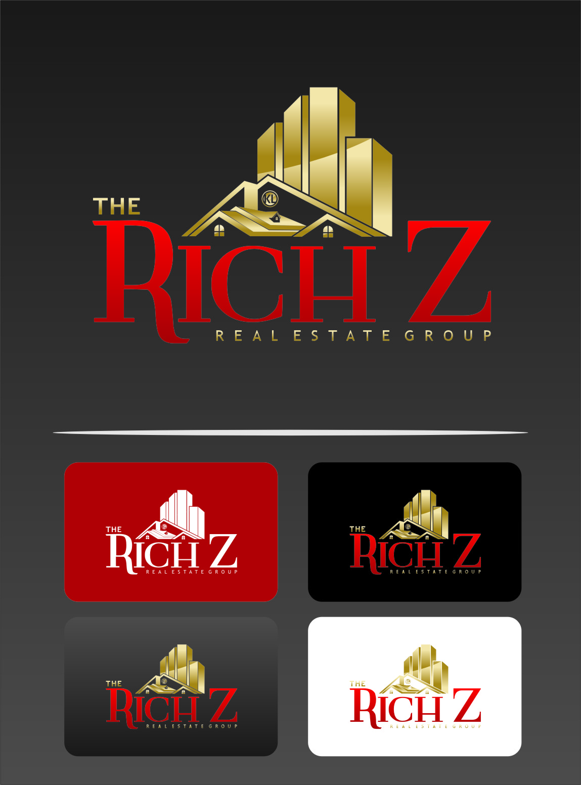 Logo Design by RasYa Muhammad Athaya - Entry No. 250 in the Logo Design Contest The Rich Z. Real Estate Group Logo Design.